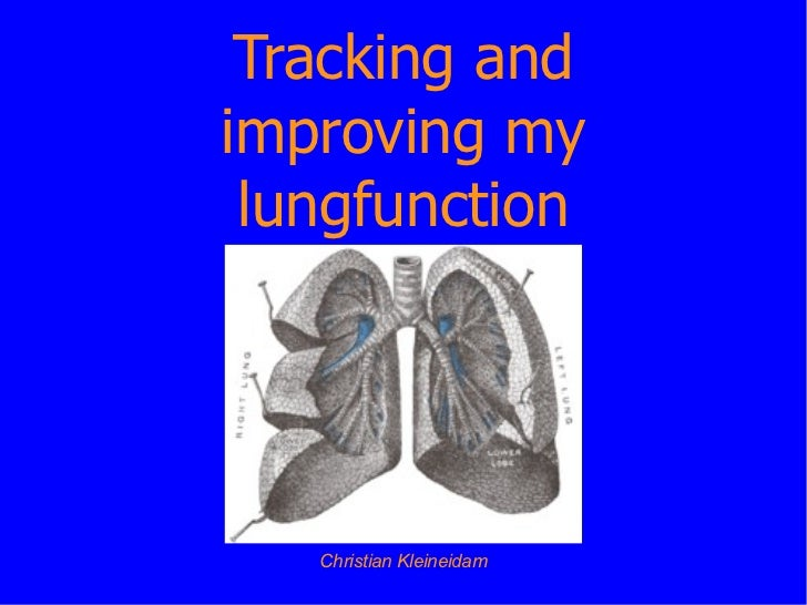 Tracking and improving my lung function - Christian Kleineidam