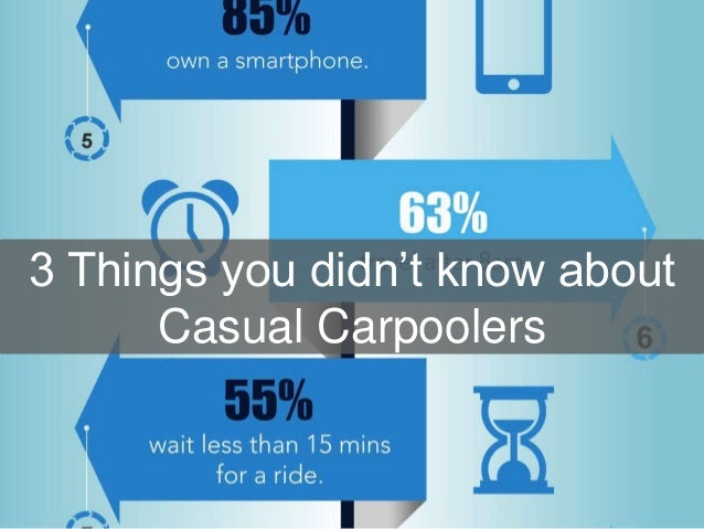3 Things you didn't know about Casual Carpoolers