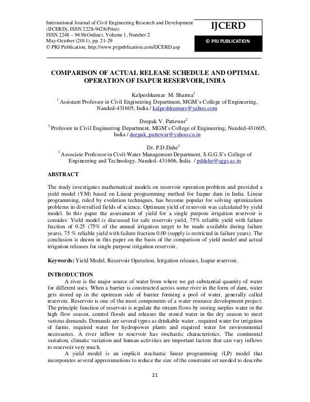 International Journal of Civil Engineering Research and Development (IJCERD), ISSN 2228-9428(Print) ISSN 2248 – 9436(Onlin...