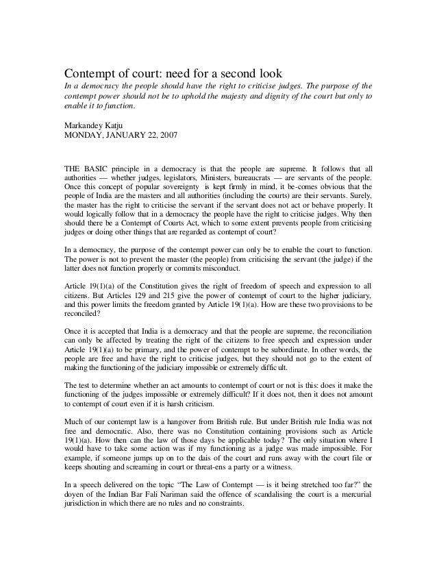 3 contempt of court   markandey katju - the hindu