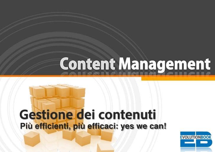 Content Management: gestione dei contenuti
