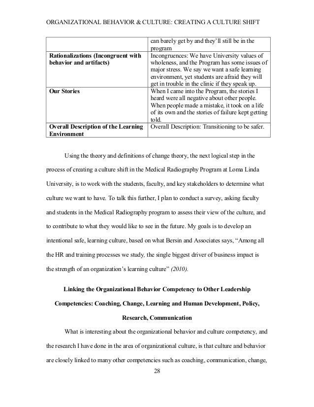 Essay Organizational Culture