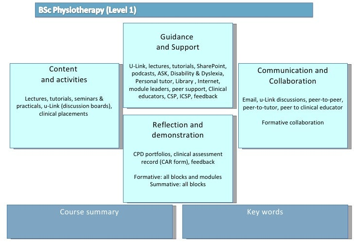 3 course map  BSc Physio