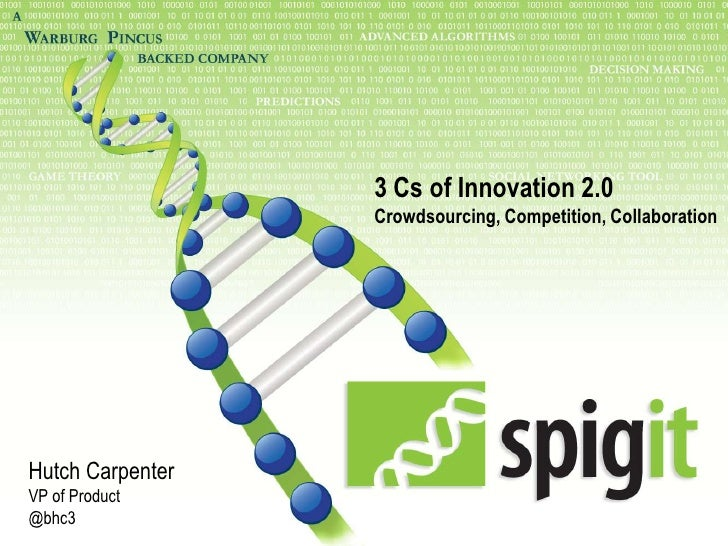 3 Cs of Innovation 2.0 - Crowdsourcing, Competition, Collaboration