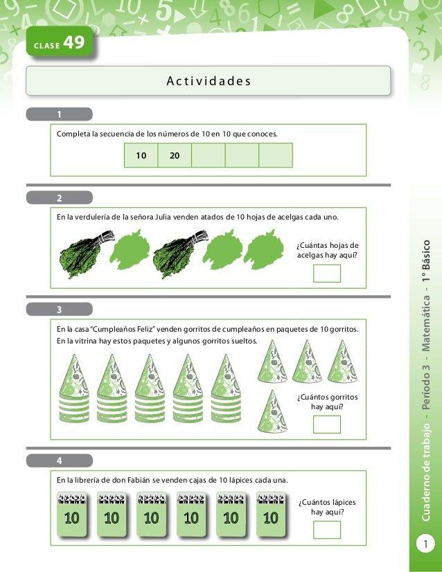 P3  cuaderno de trabajo     1 Básico  Matemática    2012