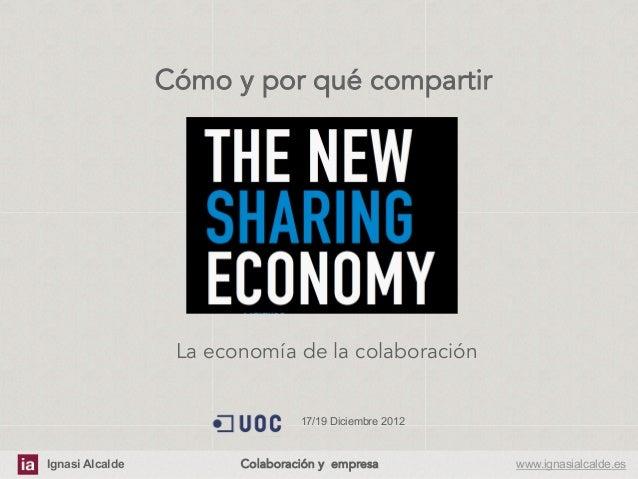La economia de la colaboración