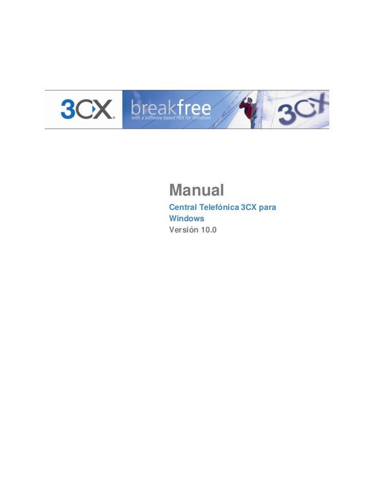 Manual Central Telefónica 3CX para windows