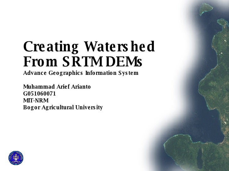 3D Analyst - Watershed from SRTM