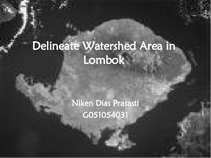 Delineate Watershed Area in Lombok Niken Dias Prasasti G051054031