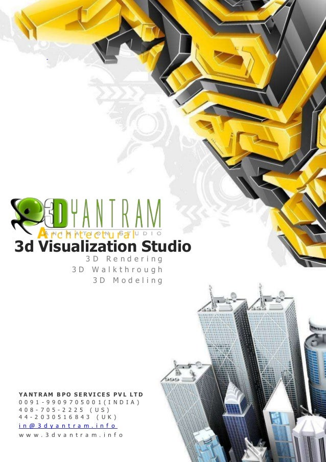 3D Architectural visualization design with outsourcing company india