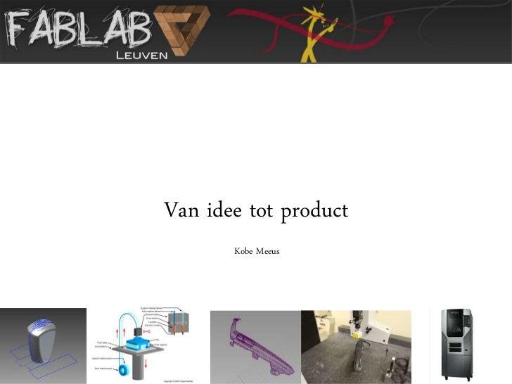3D printen, Kobe Meeus