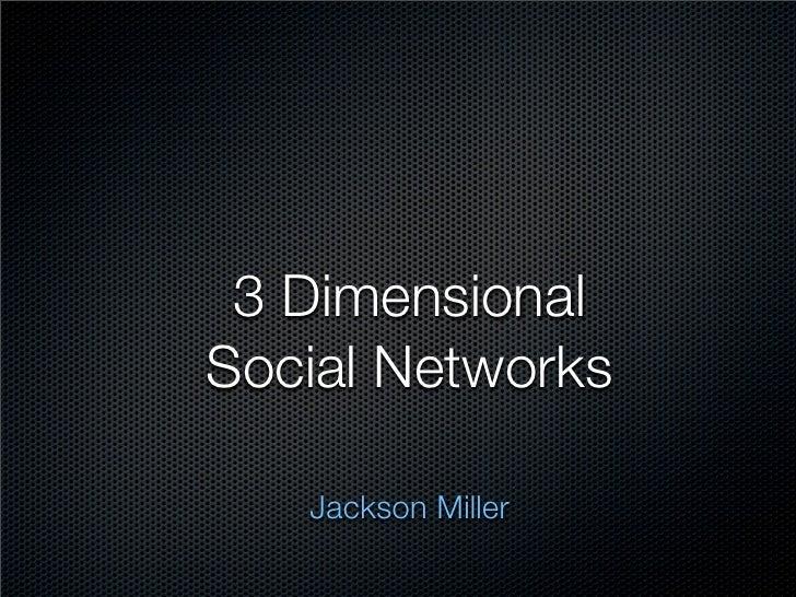 3 Dimensional Social Networks     Jackson Miller