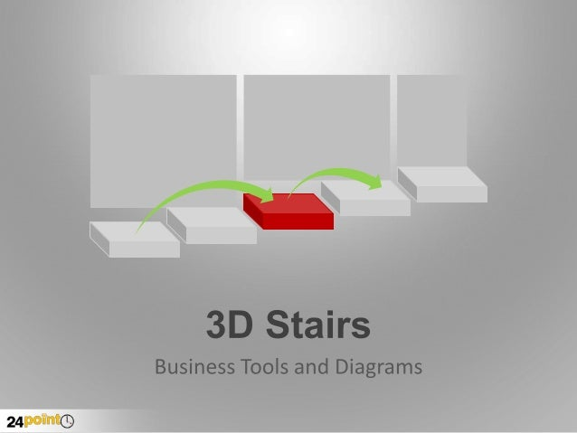 Editable 3-D Stairs and Steps for PowerPoint