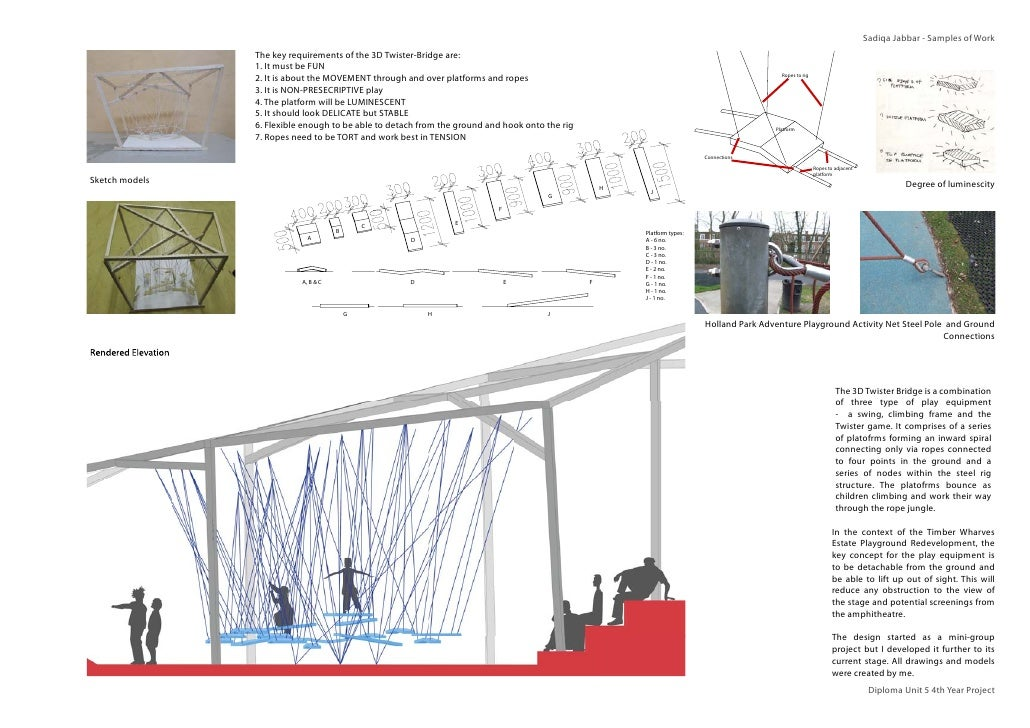 Sadiqa Jabbar - Samples of Work                     The key requirements of the 3D Twister-Bridge are:                    ...