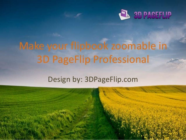 make your flipbook zoomable in 3D PageFlip Professional
