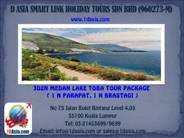 3D2N Medan Lake Toba Tour Package (1N Parapat & 1N Brastagi)