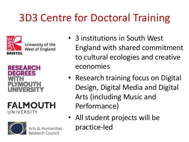 3d3 Consortium (Centres for Doctoral Training)