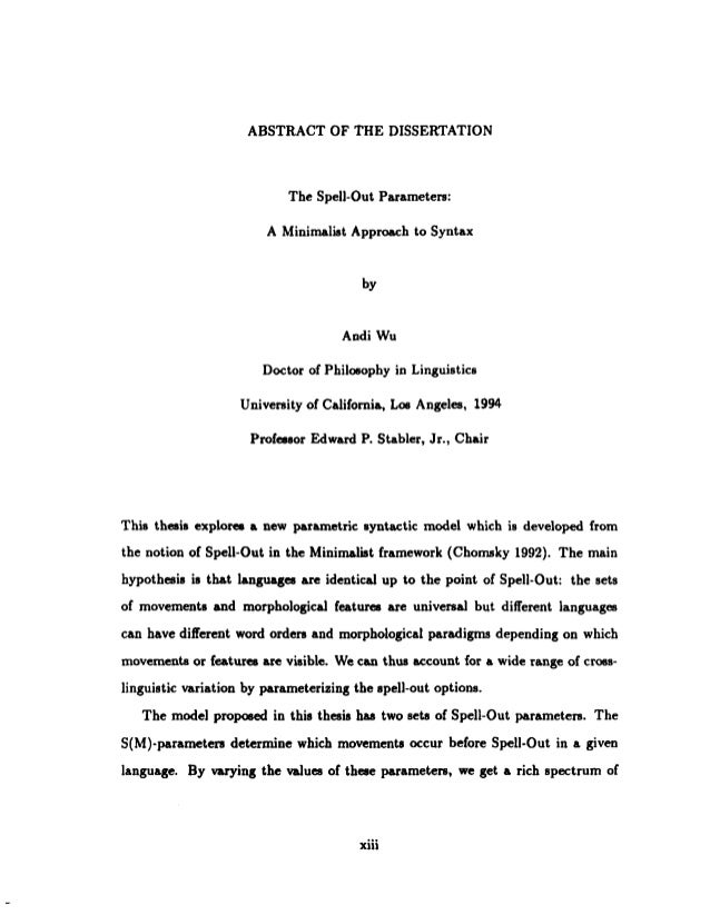 Thesis abstracts - jatmcombr