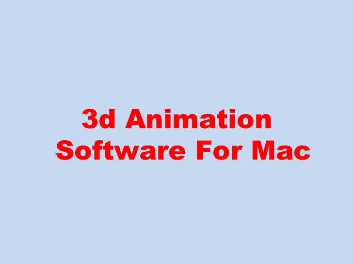 3d Animation Software Easy To Use