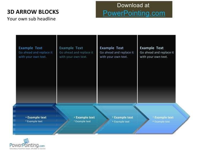 3 d arrow blocks