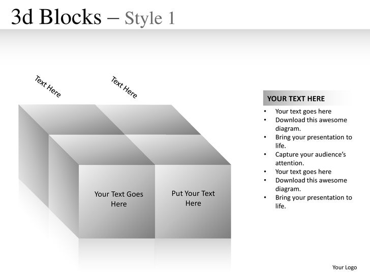 3d Blocks – Style 1                                              YOUR TEXT HERE                                          •...