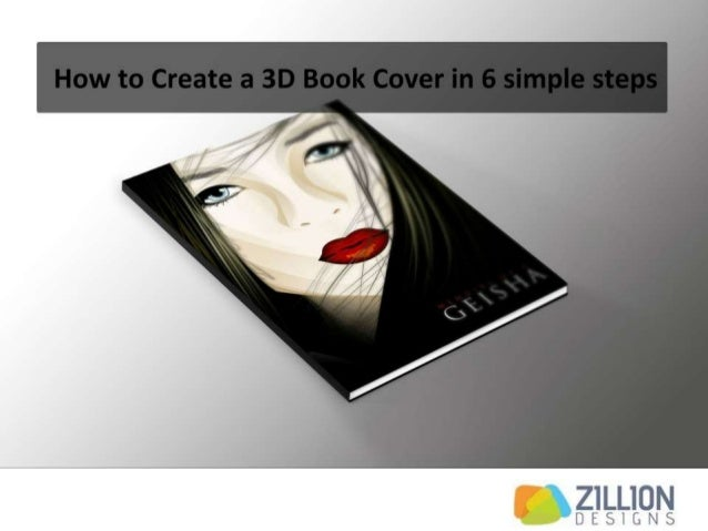 How To Make Book Cover Simple : How to create a d book cover in simple steps