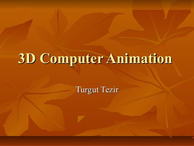 3 d computer animation