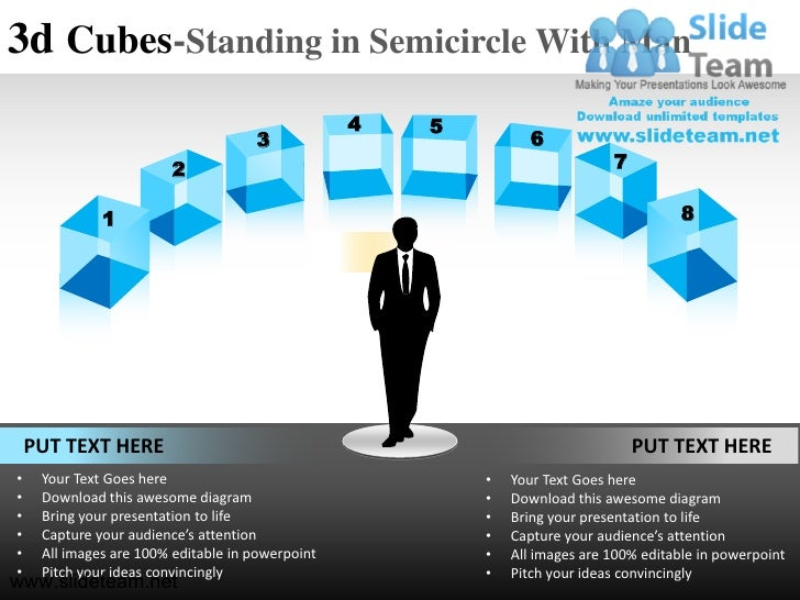 3d Cubes-Standing in Semicircle With Man                                                  4   5                           ...
