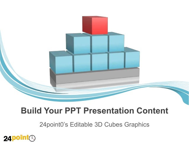 An Alternative to Text Heavy Slides 24point0's 3D Cubes graphics deck contains slides of editable graphics that can be ins...
