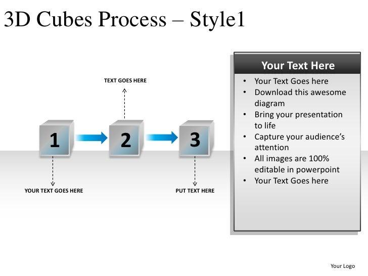 3d cubes process style 1 powerpoint presentation templates