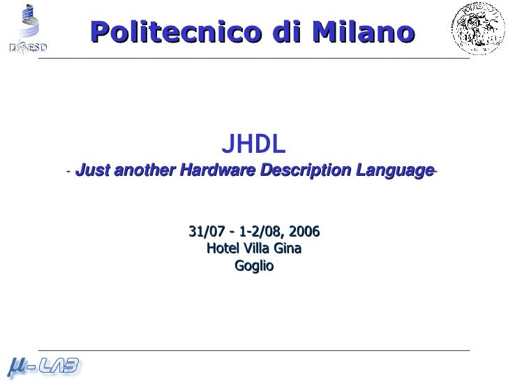 3DD1e JHDL
