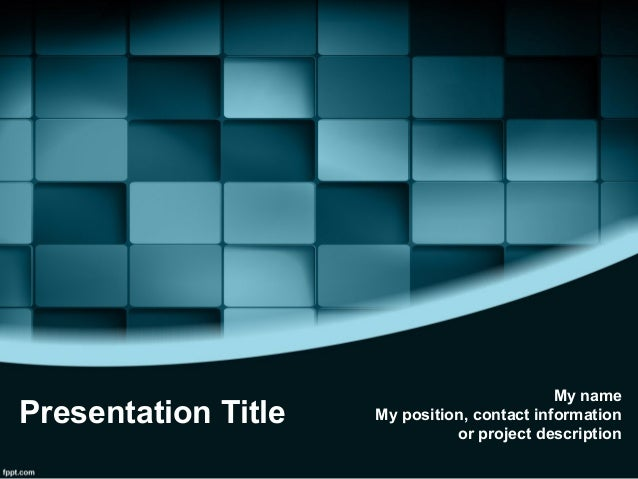 3d Design Free 3d Blue Blocks Powerpoint Template 3d