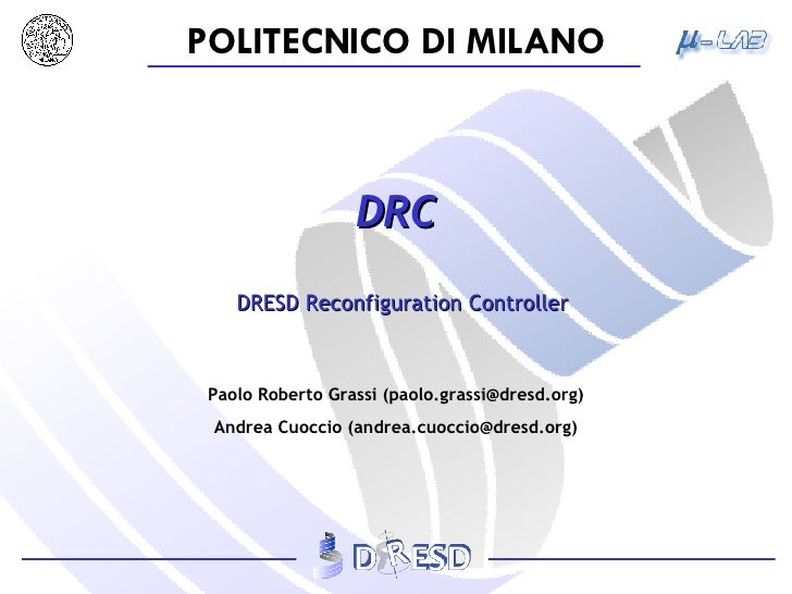 DRC DRESD Reconfiguration Controller