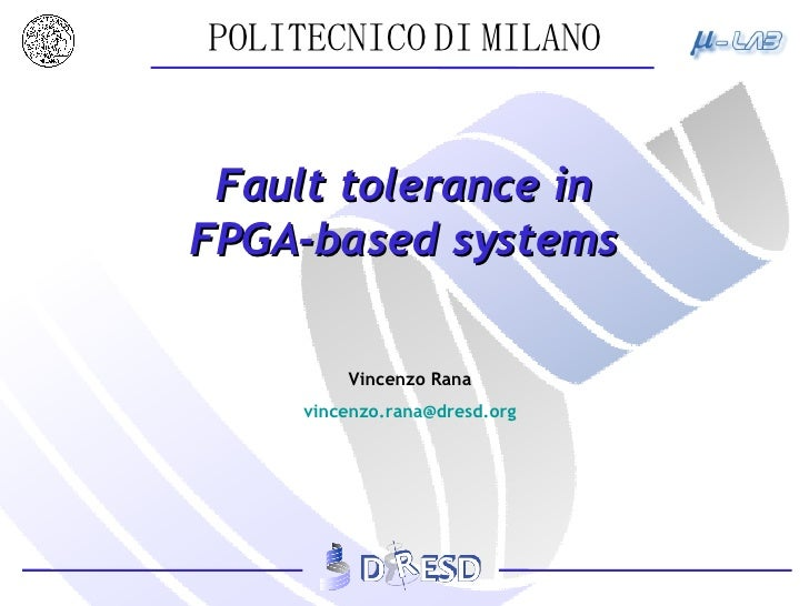 Fault tolerance in FPGA-based systems