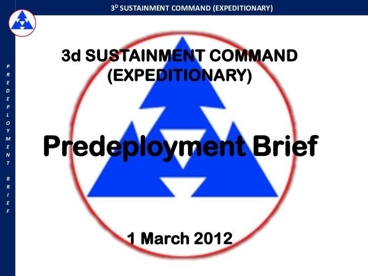 3 d esc predeployment brief on 1 march