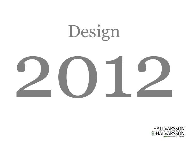 Hallvarsson & Halvarsson - Webbdesigntrender 2012