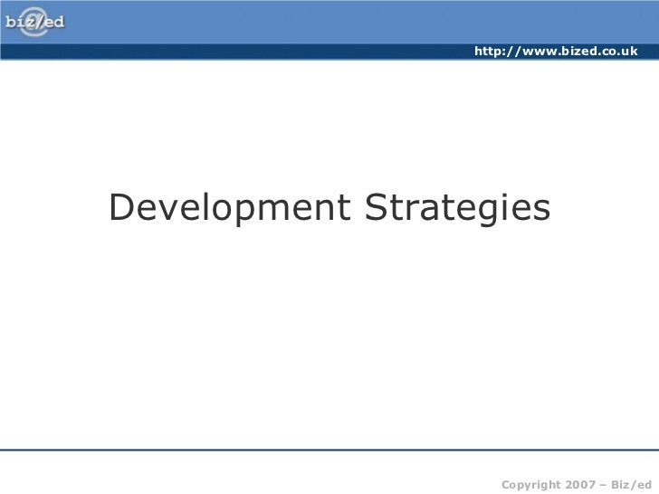 Development Strategies<br />