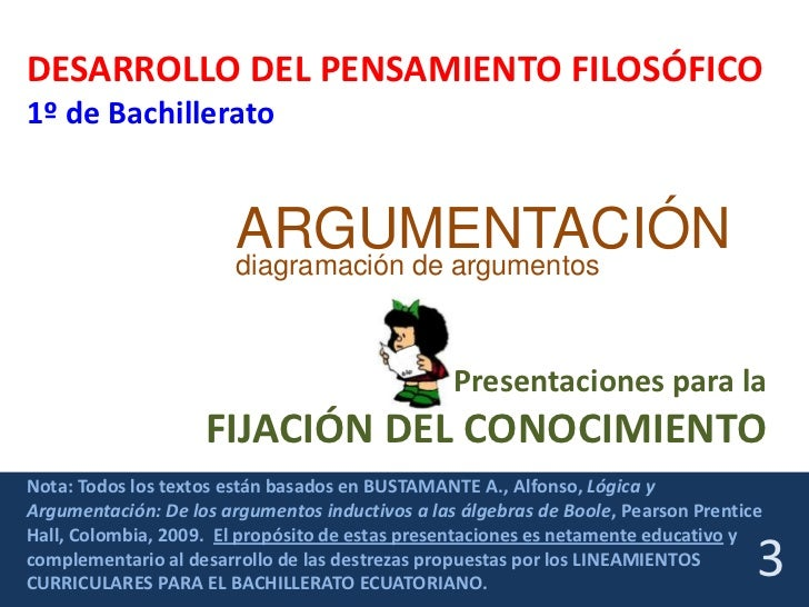 DESARROLLO DEL PENSAMIENTO FILOSÓFICO1º de Bachillerato                        ARGUMENTACIÓN                        diagra...
