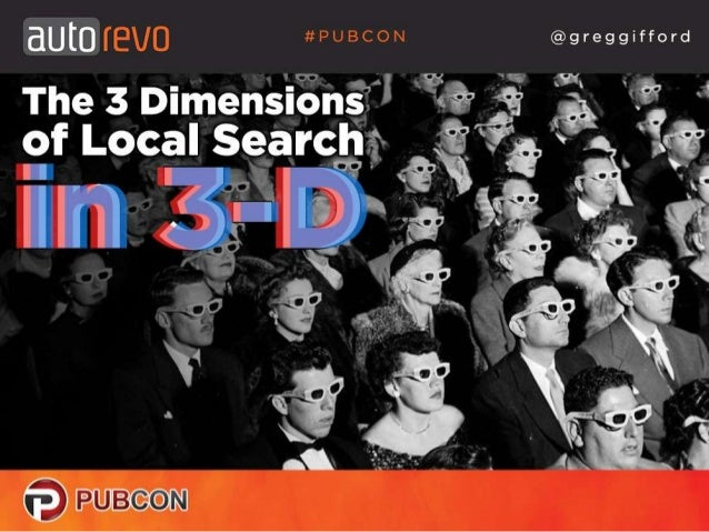 The 3 Dimensions of Local Search