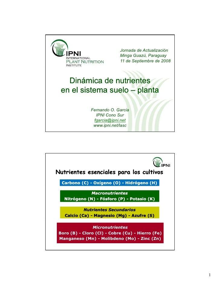 Jornada de Actualización                              Minga Guazú, Paraguay                              11 de Septiembre ...