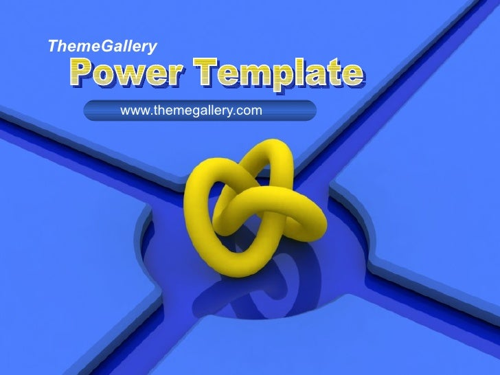ThemeGallery www.themegallery.com Power Template
