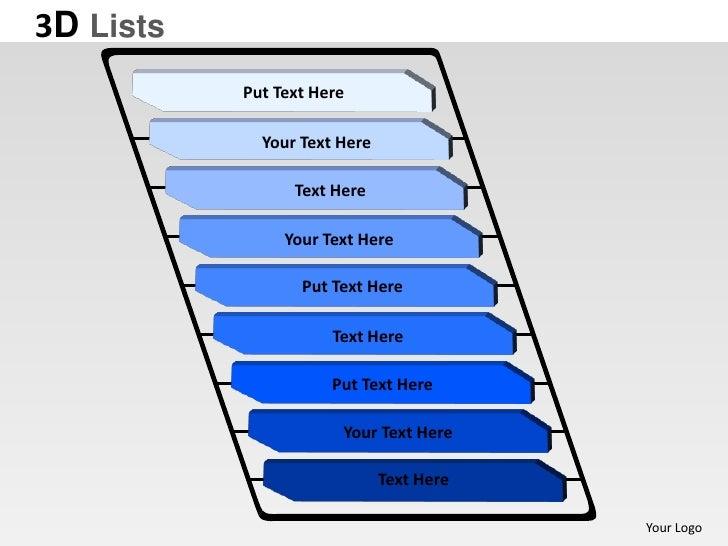 3d list frames powerpoint presentation templates