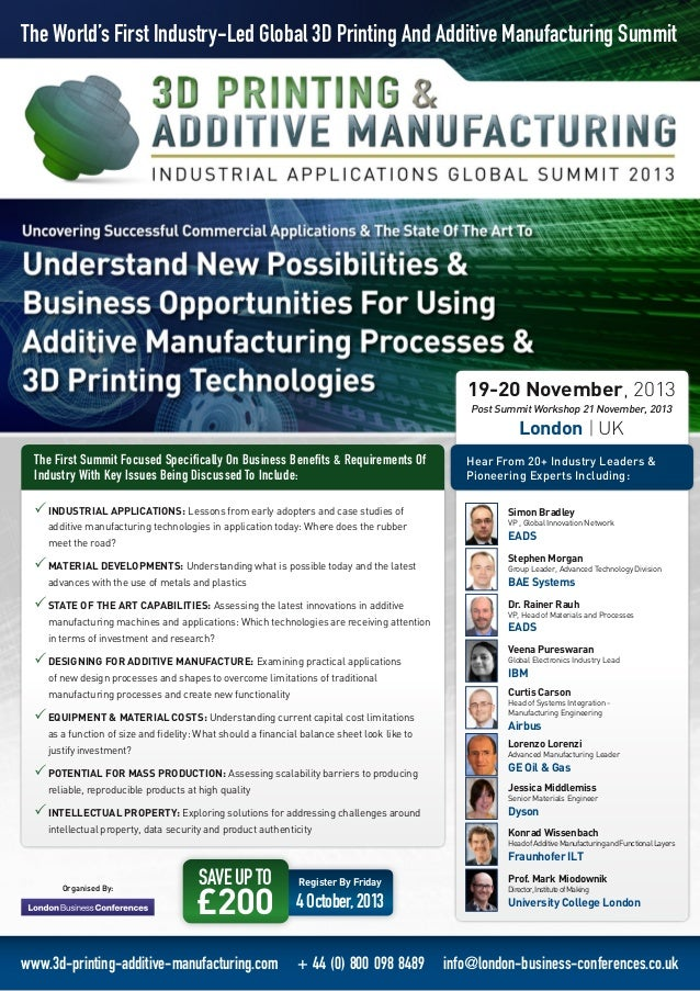 3D Printing Industrial Applications Summit
