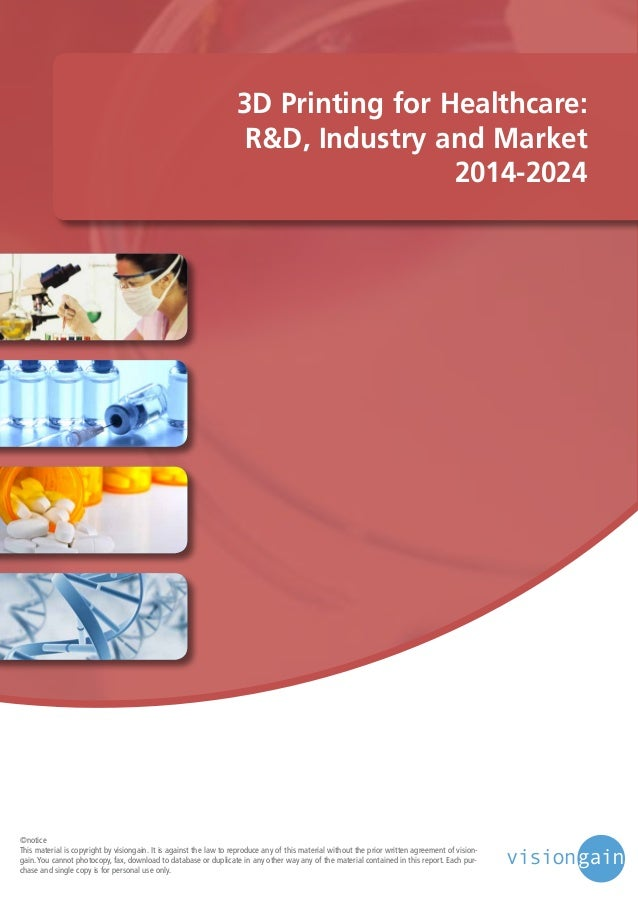 3D Printing for Healthcare 2014-2024