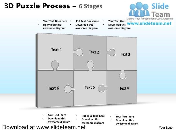 3 Puzzle Pieces 3 d Puzzle Pieces Connected