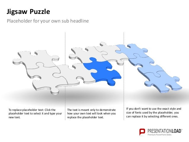Jigsaw Puzzle Template Powerpoint