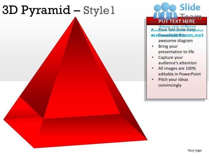 3d pyramid style 1 powerpoint presentation slides ppt templates. Black Bedroom Furniture Sets. Home Design Ideas