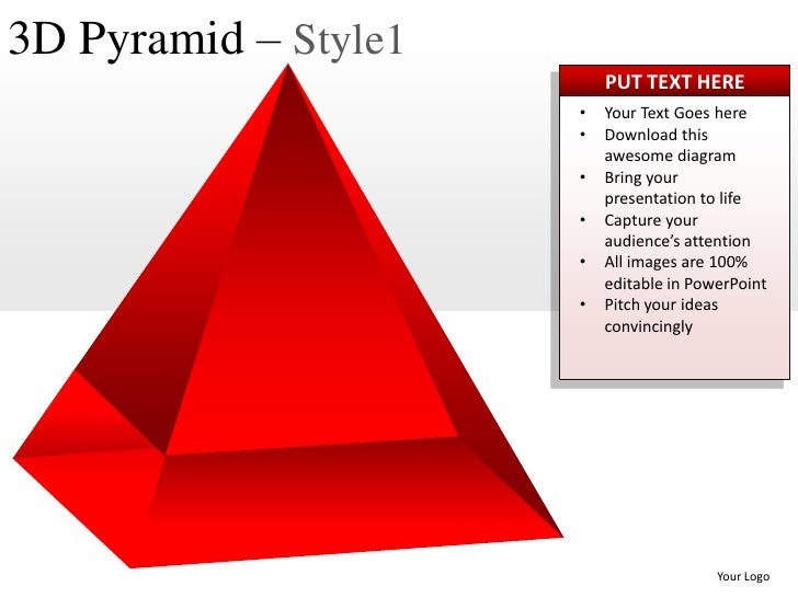 3d pyramid style 1 powerpoint presentation templates. Black Bedroom Furniture Sets. Home Design Ideas