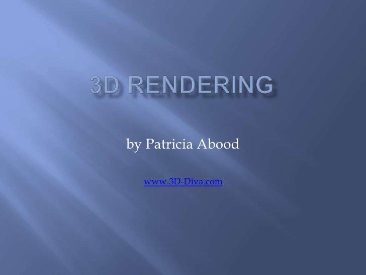 3 D Rendering 1