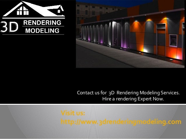 Visit us:http://www.3drenderingmodeling.comContact us for 3D Rendering Modeling Services.Hire a rendering Expert Now.